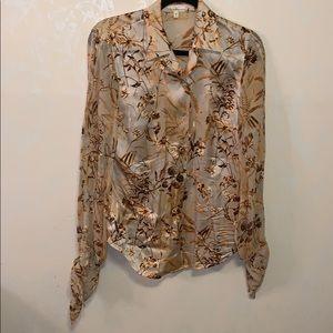 Escada Floral Silk Blouse